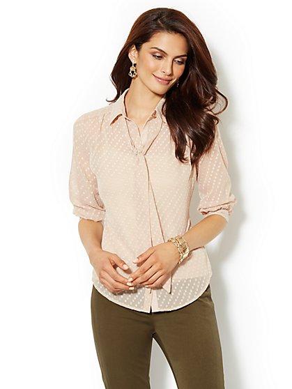 Lexington Soft Shirt - Clip Dot - New York & Company