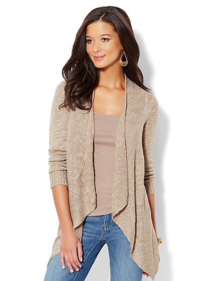 Light-Textured Flyaway Cardigan - New York & Company