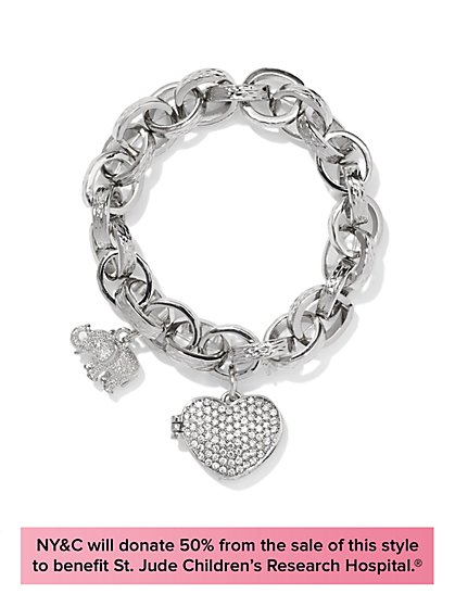 Limited-Edition St. Jude Jewelry Collection - Elephant & Locket Bracelet - New York & Company
