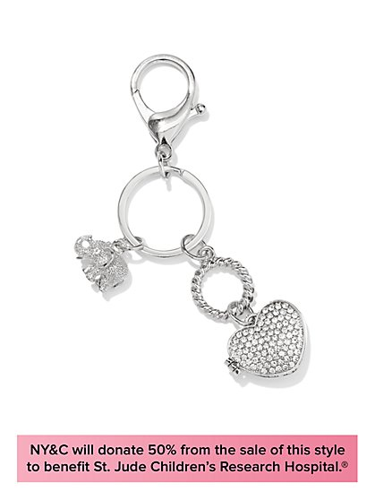 Limited-Edition St. Jude Jewelry Collection - Elephant & Locket Keychain - New York & Company