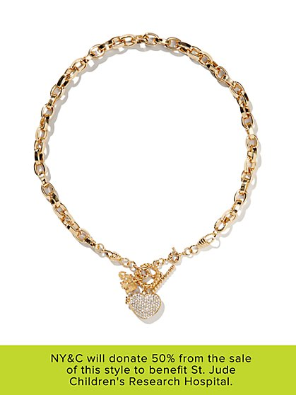 Limited Edition St. Jude Jewelry Collection - Elephant & Locket Necklace - New York & Company