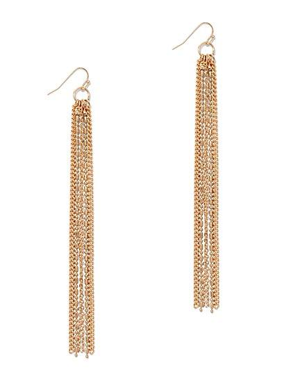Linear Chain-Link Drop Earring  - New York & Company