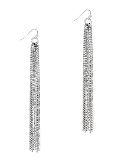 Linear Chain-Link Drop Earring  - New York & Company