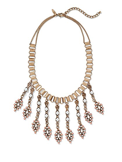 Linear Chain Statement Necklace  - New York & Company