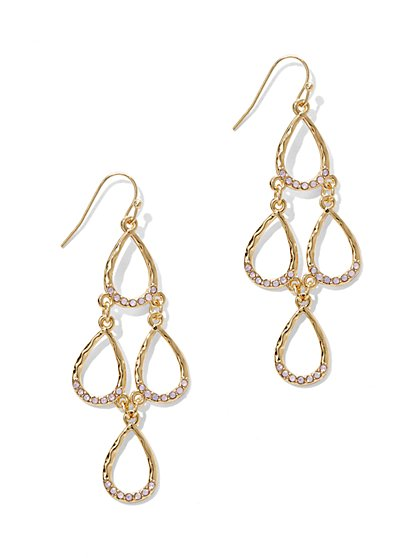 Linear Open Teardrop Earring  - New York & Company