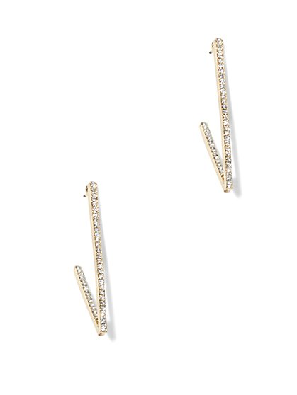 Linear Pavé Earring   - New York & Company