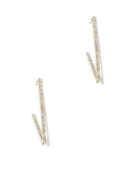 Linear Pavé Earring   - New York & Company