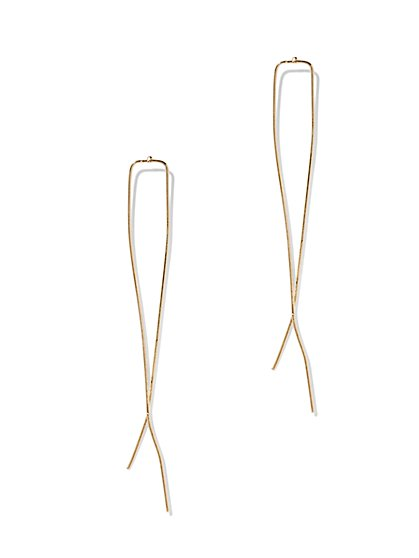 Linear Pull-Through Earring  - New York & Company