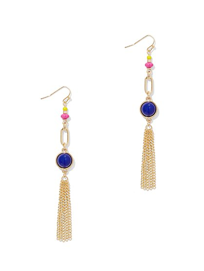 Linear Tassel Drop Earring  - New York & Company