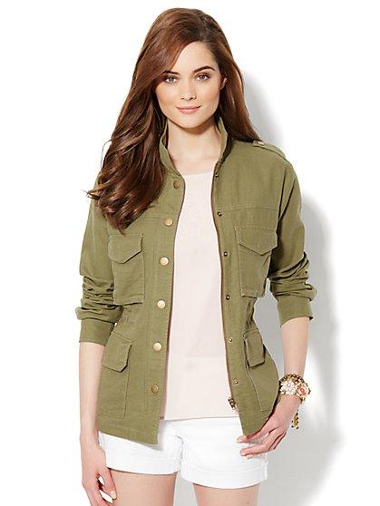 Linen Utility Jacket - New York & Company