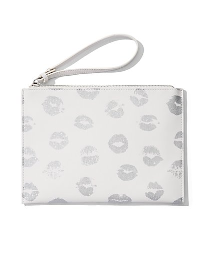 Lip Print Pochette  - New York & Company