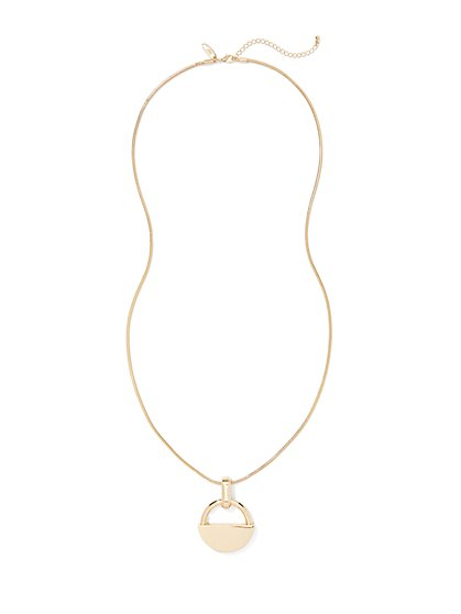 Lock Pendant Necklace  - New York & Company