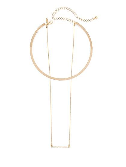 Long Bar & Collar Necklace  - New York & Company