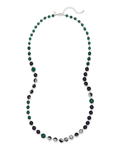 Long Beaded Necklace  - New York & Company