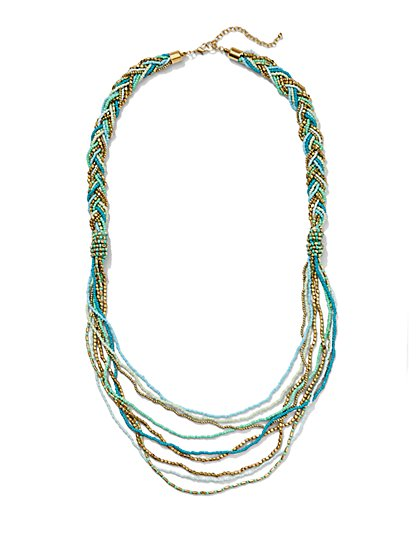 Long Braided Necklace  - New York & Company