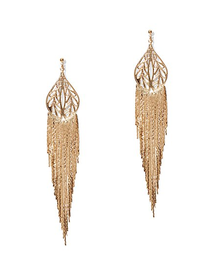 Long Fringe Earrings  - New York & Company