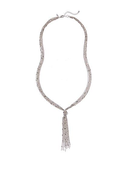 Long Knotted Tassel Necklace  - New York & Company