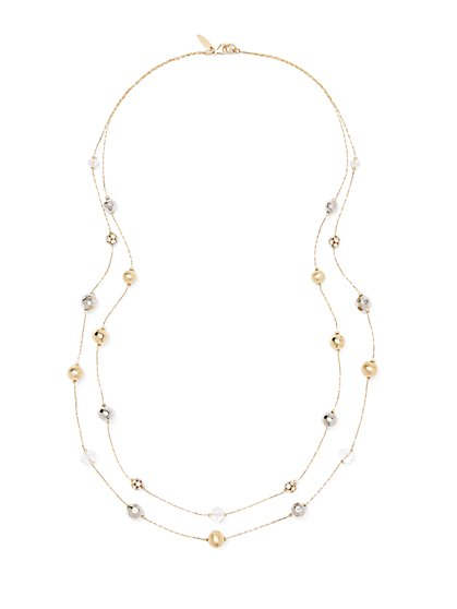 Long Mixed-Metal Necklace  - New York & Company