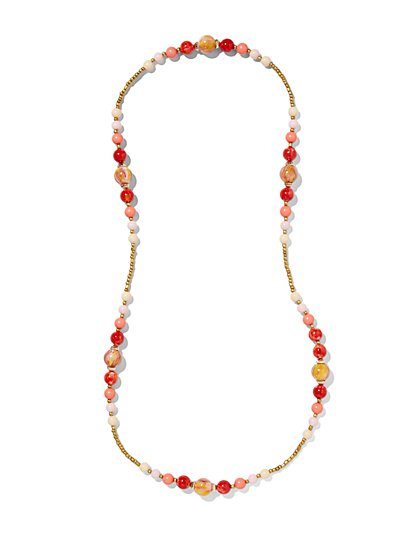 Long Multibead Necklace  - New York & Company
