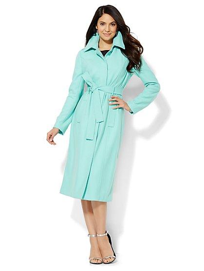 Long Wool-Blend Coat  - New York & Company