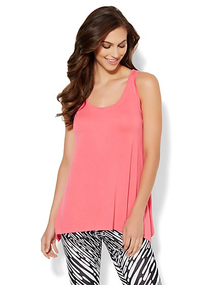 Lounge - Asymmetrical Hem Tunic - New York & Company