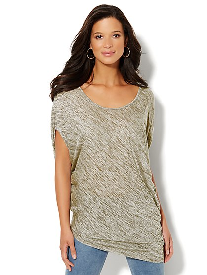 Lounge - Asymmetrical Poncho Tunic - New York & Company