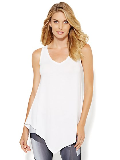 Lounge - Asymmetrical Tunic Tank Top - New York & Company