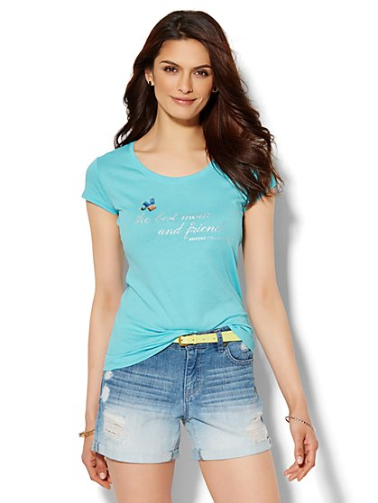 Lounge - Best Mom & Friend Logo Tee  - New York & Company
