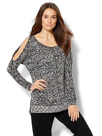 Lounge - Cold-Shoulder Pullover  - New York & Company