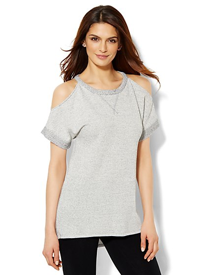 Lounge - Cold-Shoulder Tee  - New York & Company