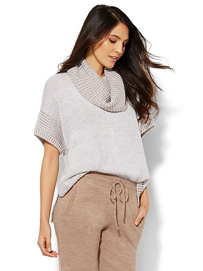 Lounge - Cowl-Neck Dolman Sweater  - New York & Company