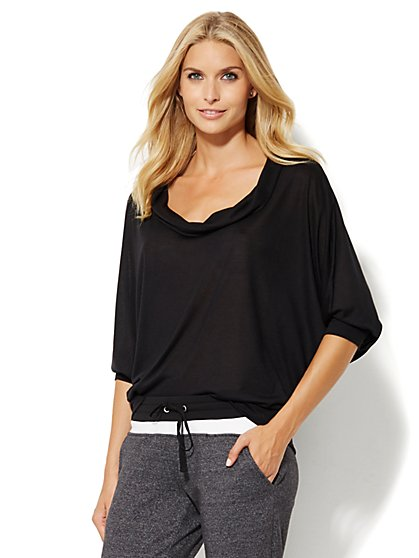 Lounge - Cowl-Neck Dolman Top  - New York & Company