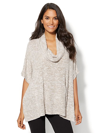 Lounge - Cowl-Neck Poncho - New York & Company
