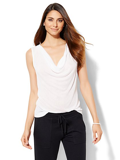 Lounge - Cowl-Neck Tank Top  - New York & Company