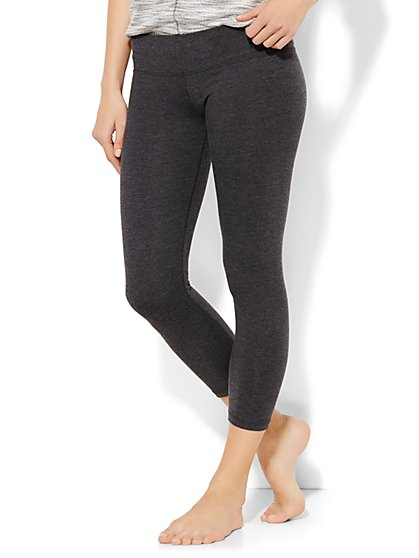 Lounge Crop Legging - Graphite Heather Grey  - New York & Company