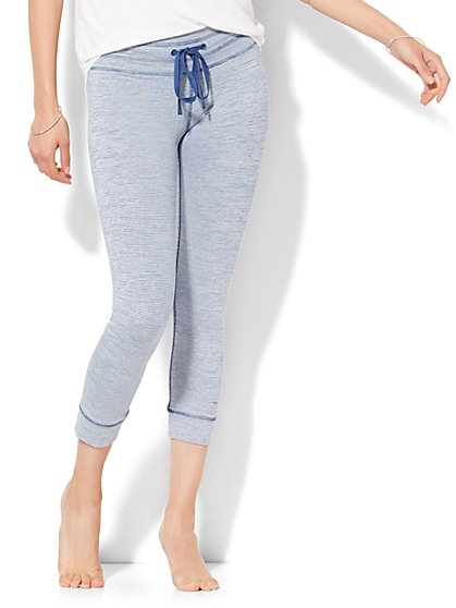 Lounge - Cropped Legging - Stripe  - New York & Company
