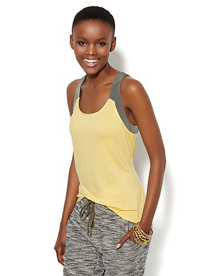 Lounge - Crossback Halter Top  - New York & Company