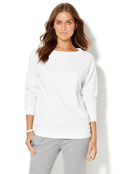 Lounge - Dolman-Sleeve Scoopneck Top  - New York & Company