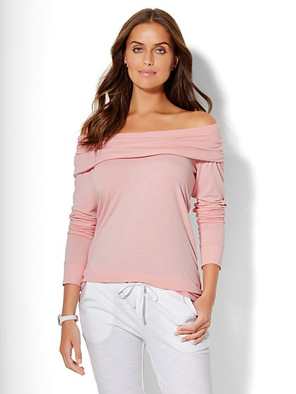 Lounge - Draped Off-The-Shoulder Top  - New York & Company