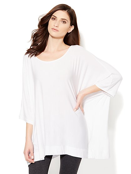 Lounge - Draped Tunic Top - New York & Company