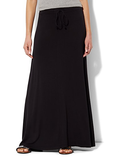 Lounge - Drawstring Maxi Skirt - Solid  - New York & Company