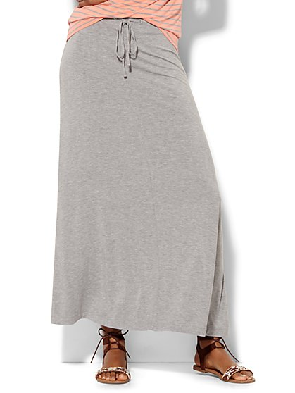Lounge - Drawstring Maxi Skirt  - New York & Company