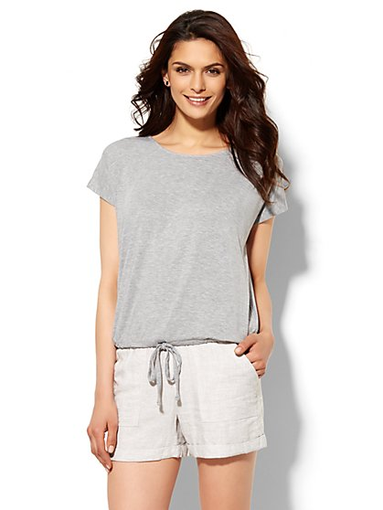 Lounge - Drawstring T-Shirt  - New York & Company