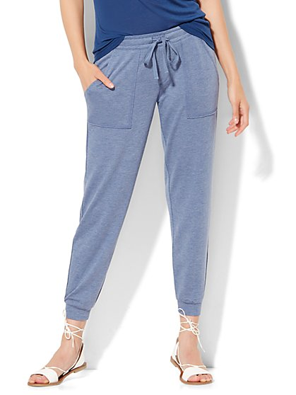 Lounge - Drawstring-Tie Jogger  - New York & Company
