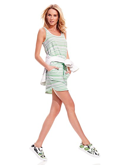 Lounge - Drawstring-Waist Tank Dress - Stripe - New York & Company
