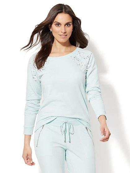 Lounge - Embellished Sweatshirt - New York & Company