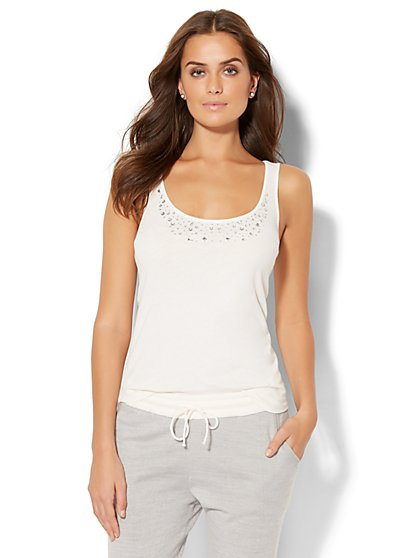 Lounge - Embellished Tank Top - New York & Company