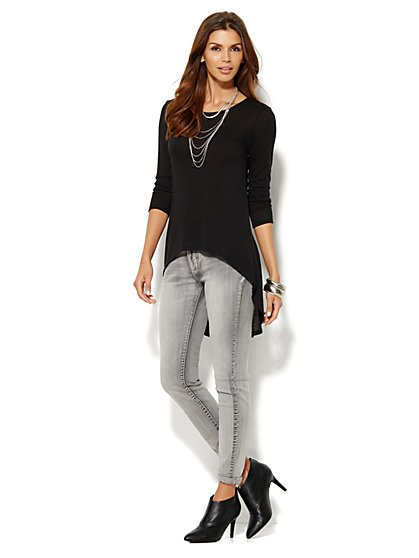 Lounge - Extreme Hi-Lo Tunic  - New York & Company