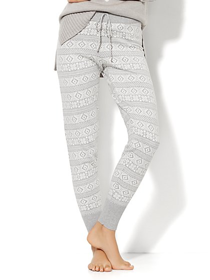 Lounge - Fair Isle Knit Pant  - New York & Company
