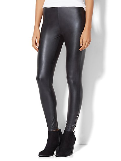 Lounge - Faux-Leather Legging  - New York & Company